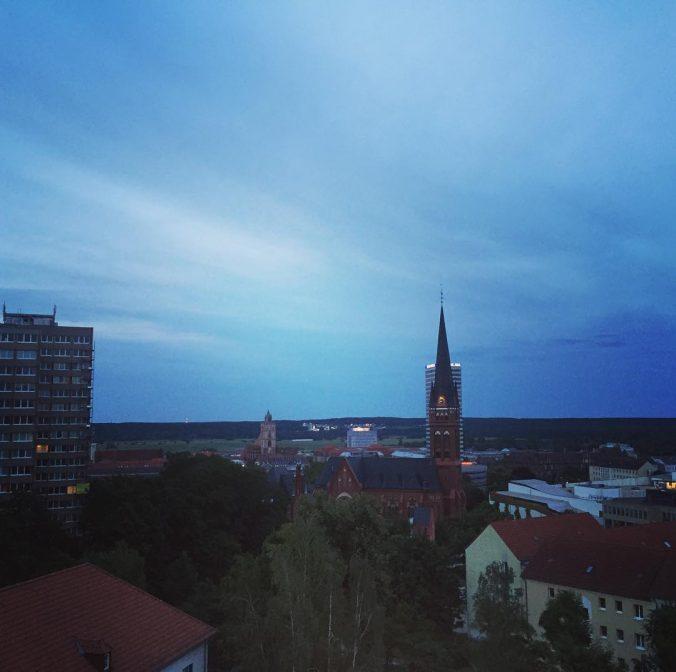 Blick auf Kirche in Frankfurt (Oder)